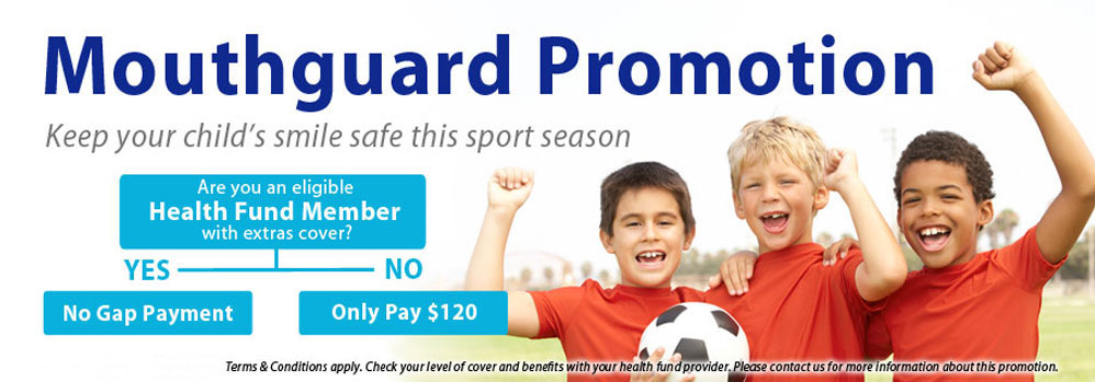 Mouthguard Promotion - Keep your kids smile safe!